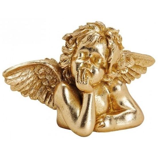 Kerst decoratie engel goudkleurig 23 cm