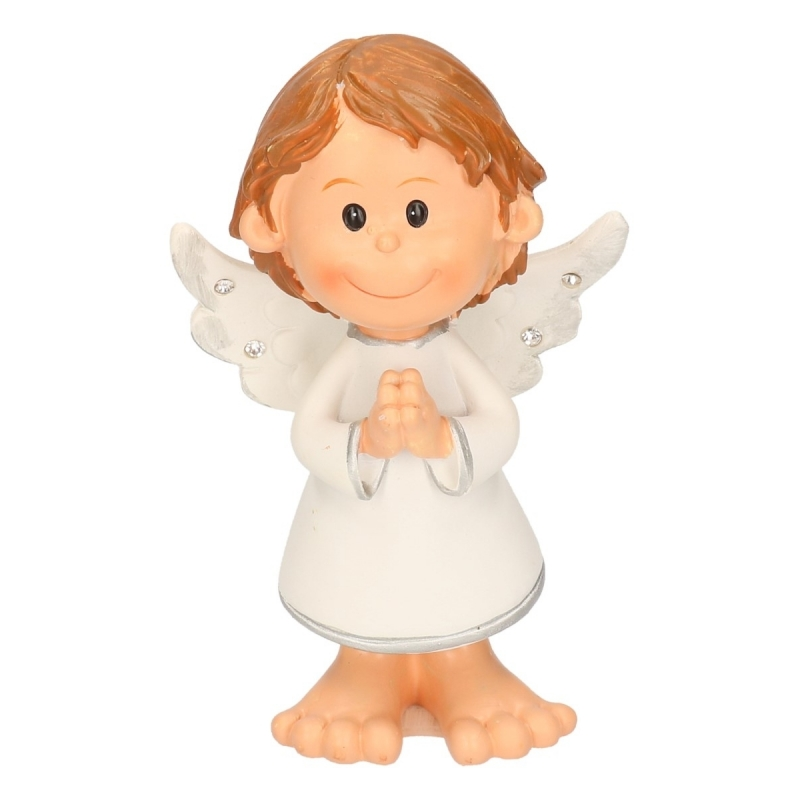 Kerst engel biddend 10 cm
