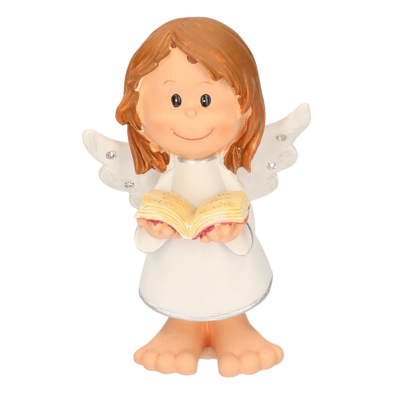 Kerst engel met boekje 10 cm