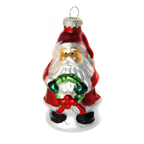 Kerst ornament kerstman 8 cm