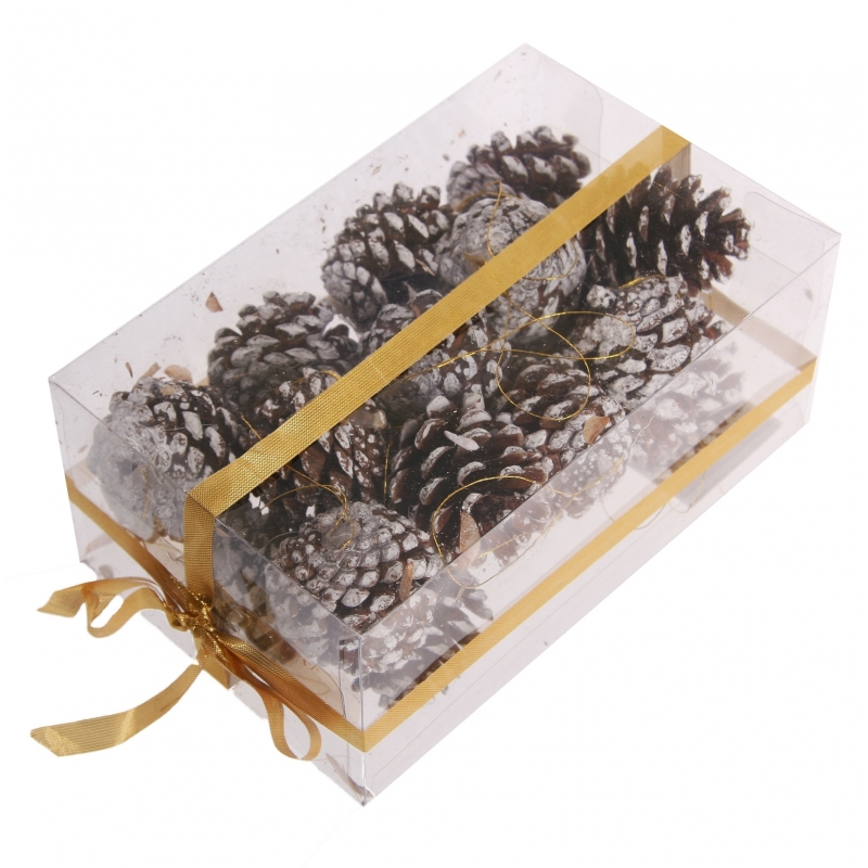 Kerstboomversiering bruine dennenappels