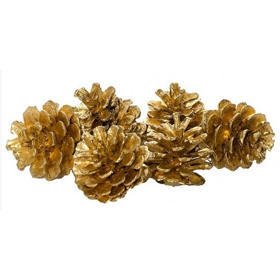 Kerstboomversiering gouden dennenappels