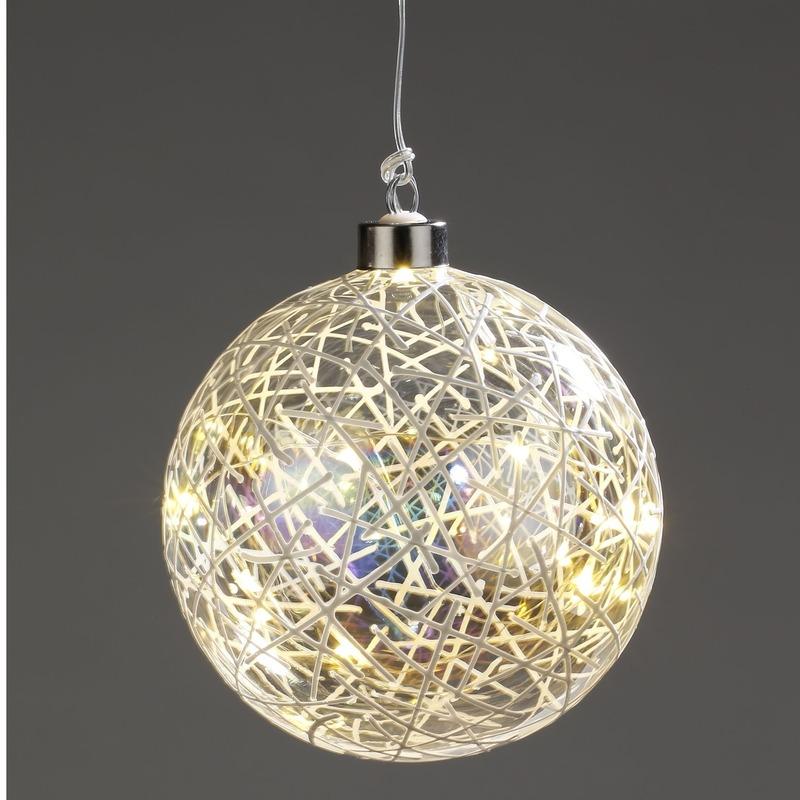 Kerstversiering verlichting lichtsnoer LED in deco fitting 12 cm
