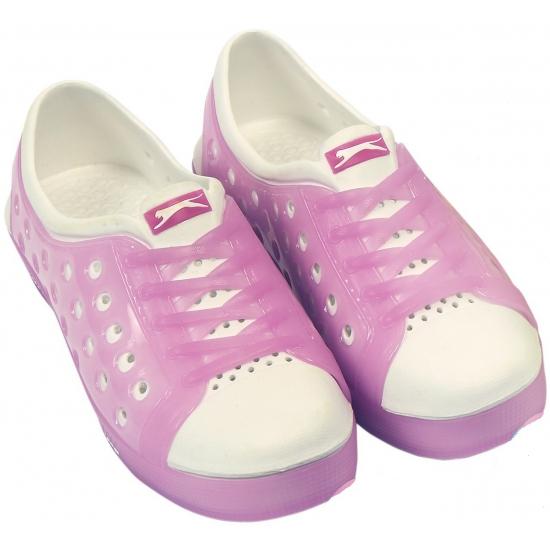 Kinder waterschoen van het merk Slazenger in roze-wit
