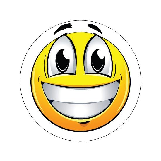 Kinderkamer stickers Smiley type 1