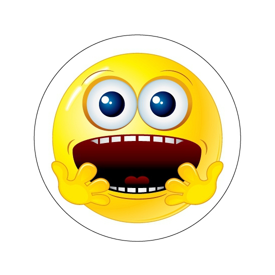 Kinderkamer stickers Smiley type 6