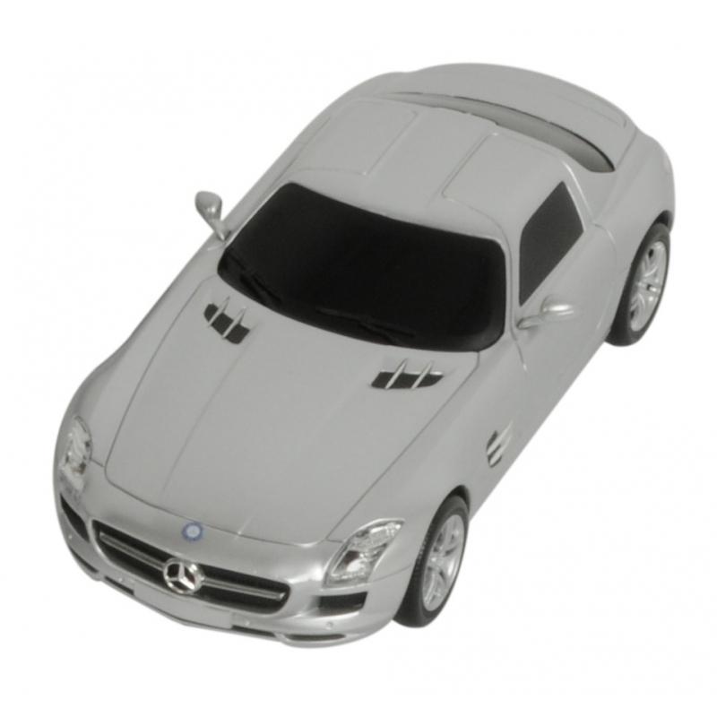 Kinderspeelgoed zilveren Mercedes SLS AMG autootje
