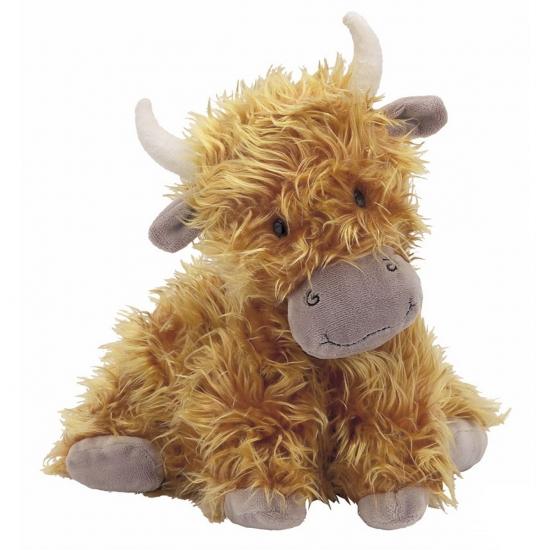 Knuffel Hoogland koe met horens