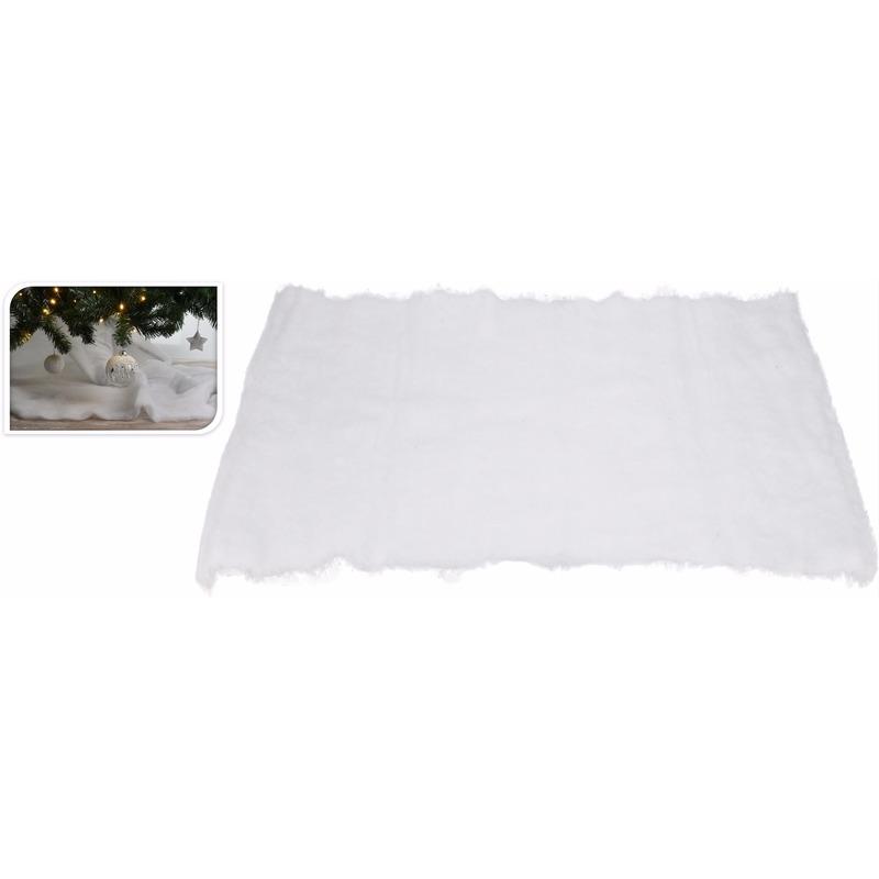 Kunstsneeuw dekens-kleden 100 x 100 cm