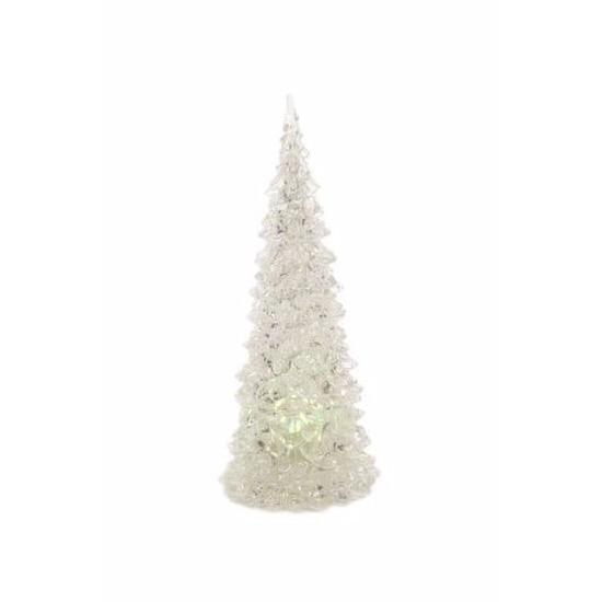 Kunststof LED boompje multikleur 23 cm