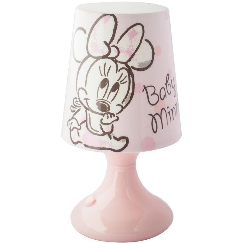 Lichtroze Disney Minnie-Katrien lampje-nachtlampje voor kinderen