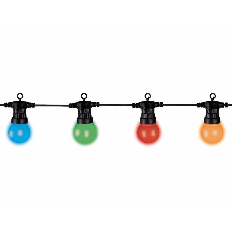 Lumineo tuinverlichting snoer 5 meter multi kleur LED verlichting