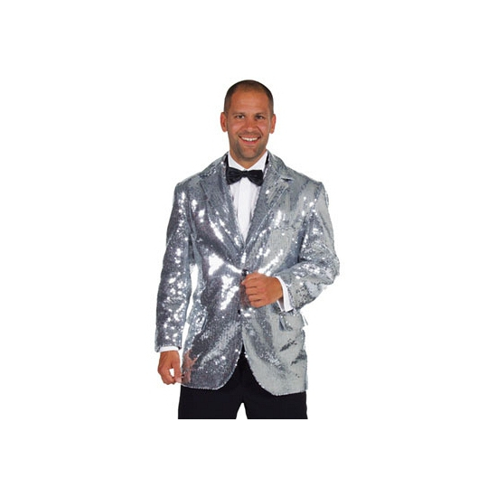 Luxe zilveren glitter colbert heren   Bandana winkel   Alle