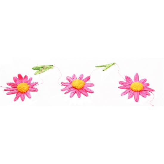 Madeliefjes feestslinger roze-oranje