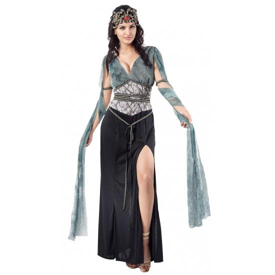 Medusa-heksen verkleedkleding voor dames