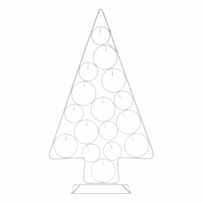 Metalen kerstboom voor ballen 56 cm