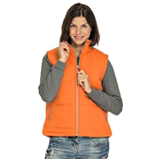 Mouwloze sport vesten oranje voor dames