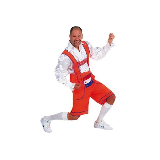 Oktoberfest Oranje Tiroler broek-lederhosen verkleedkleding