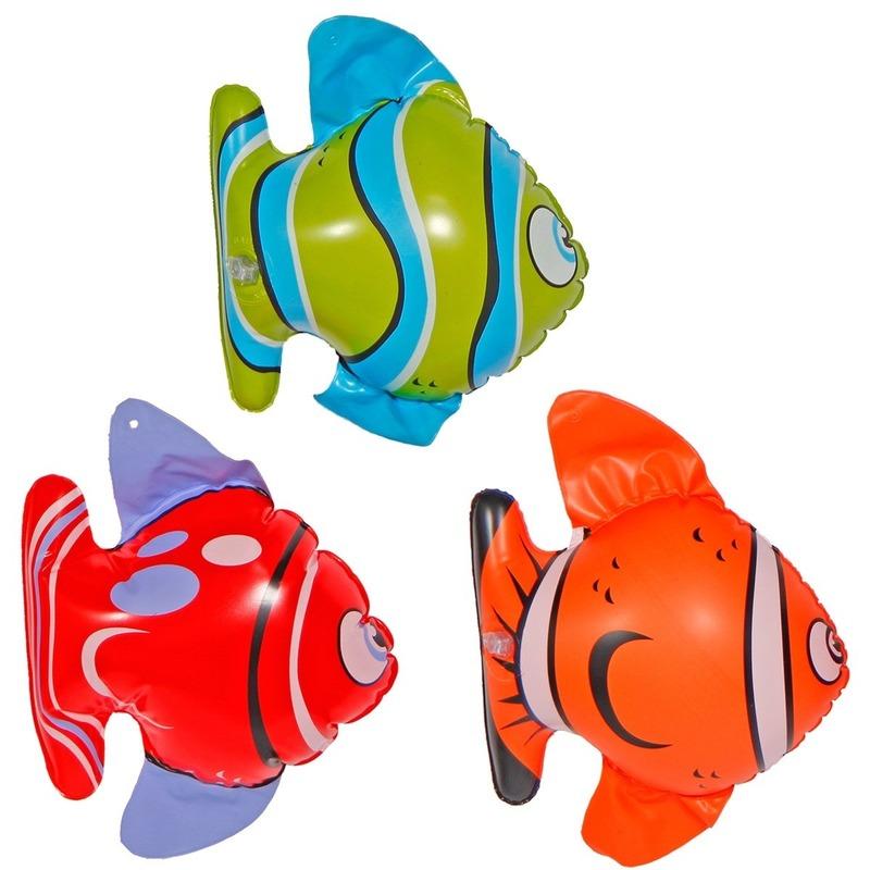 Opblaasbare decoratie vissen 3 stuks