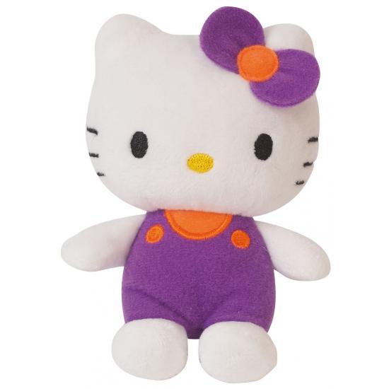 Paars Hello Kitty knuffeltje 12 cm