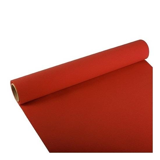 Papieren tafelloper rood 300 x 40 cm