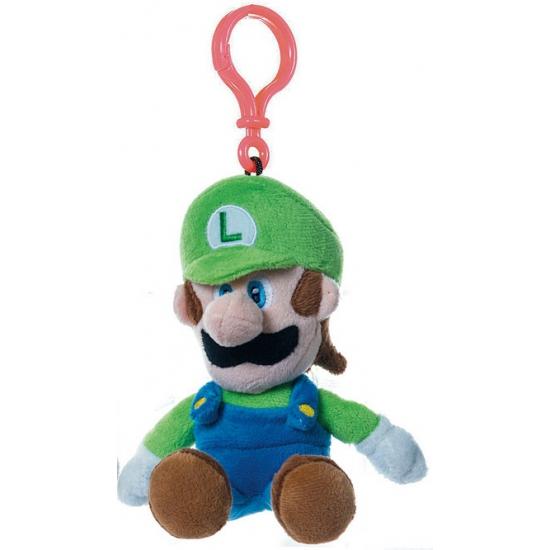 Pluche Luigi tassenclip groen 18 cm