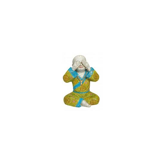 Polystone beeldje Boeddha 16 cm
