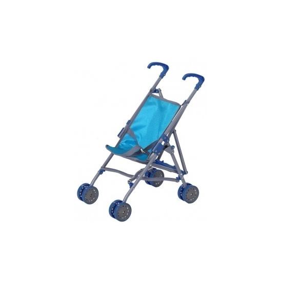 Poppen kinderwagen blauw