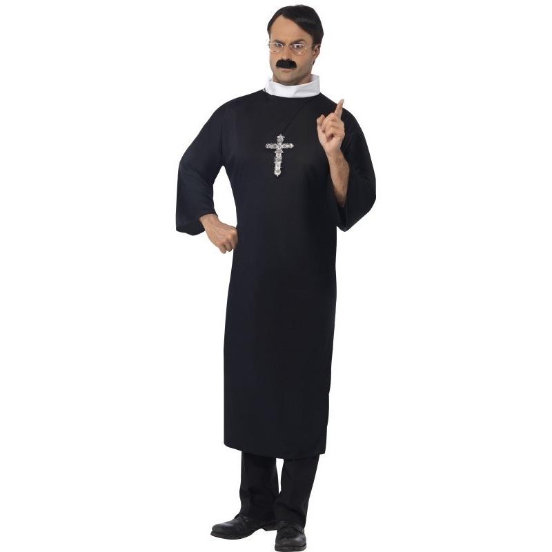 Priester kostuum met ketting voor heren