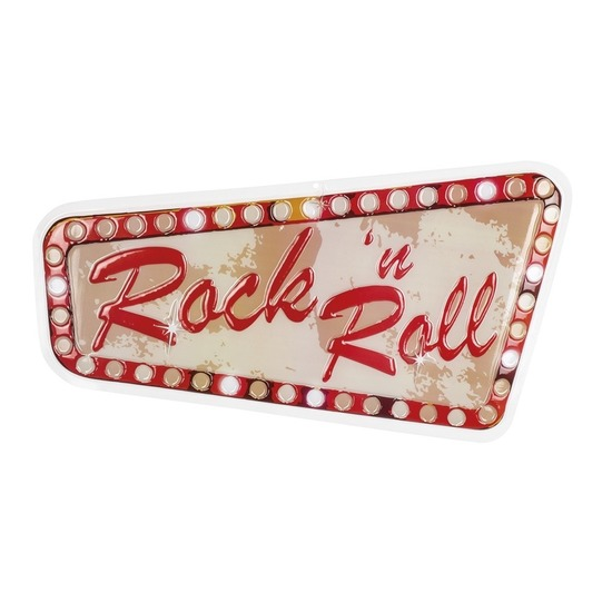 Rock en Roll thema wandbord 33x60 cm