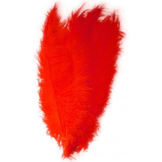 Rode decoratie veren 50 cm