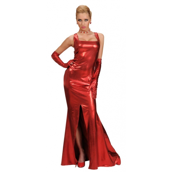 Rode gala jurk