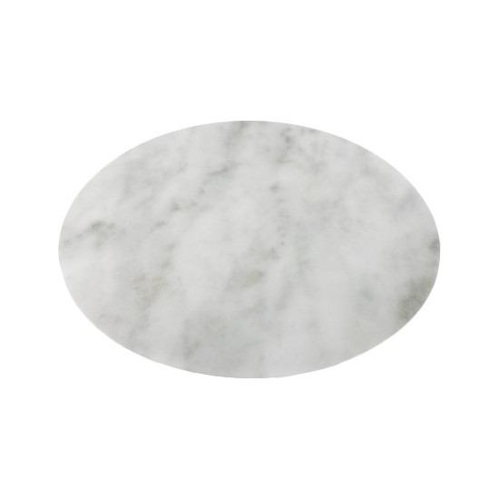 Ronde tafel onderlegger marmerlook wit 38 cm