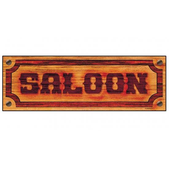 Saloon tekst bordje