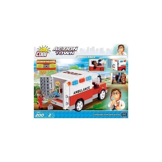 Speelgoed ambulance bouwstenen set