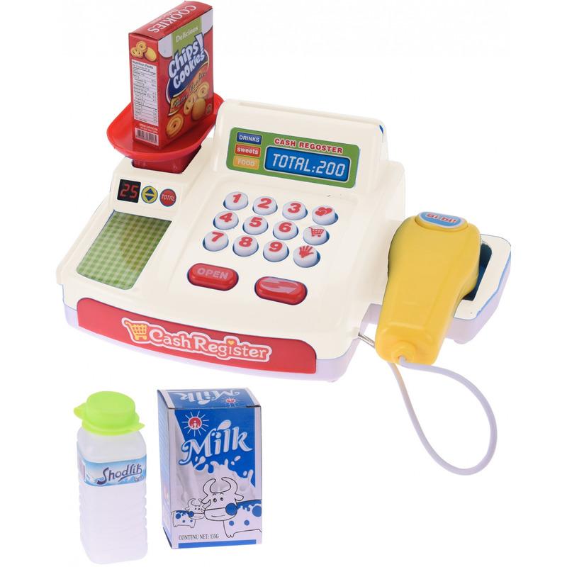 Speelgoed kassa met boodschappen voor kinderen
