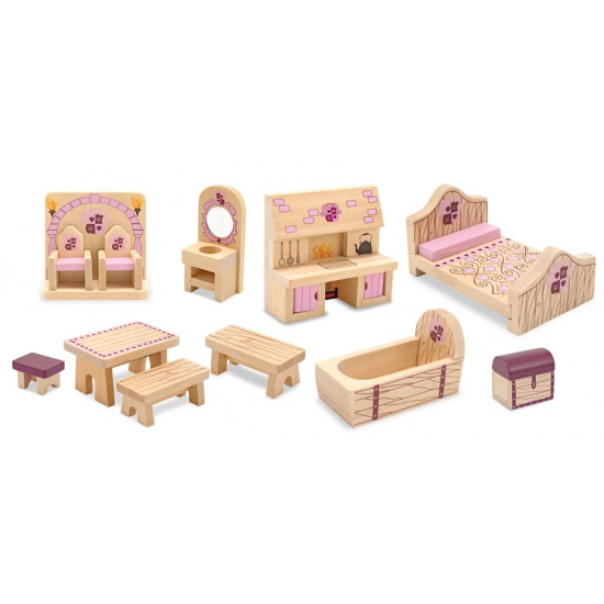 Speelgoed kasteel poppenhuis Princess meubels