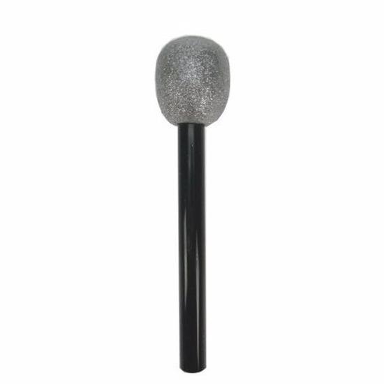 Speelgoed Microfoon zwart-zilver