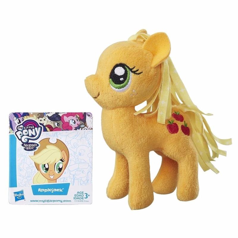 Speelgoed oranje My Little Pony knuffel 13 cm