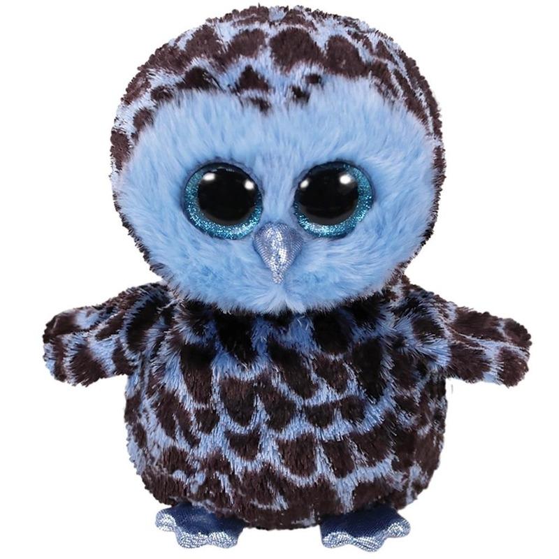 Speelgoed uil blauw 15 cm