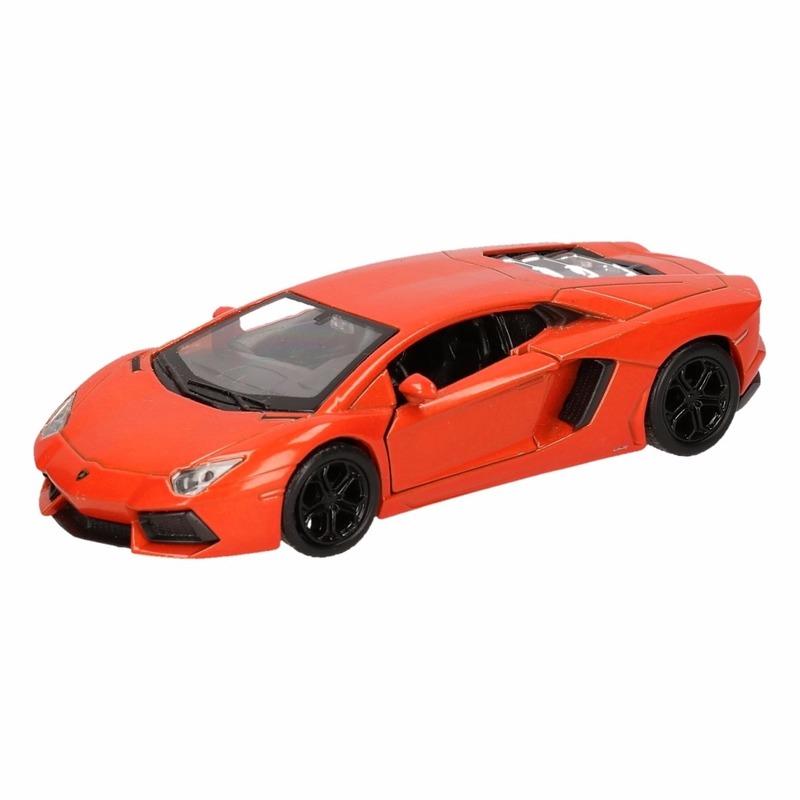 Speelgoedauto Lamborghini Aventador LP700-4 oranje 12 cm