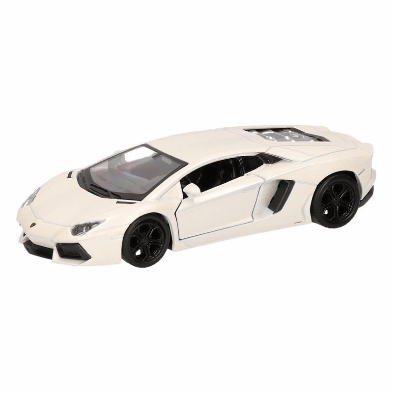Speelgoedauto Lamborghini Aventador LP700-4 wit 12 cm