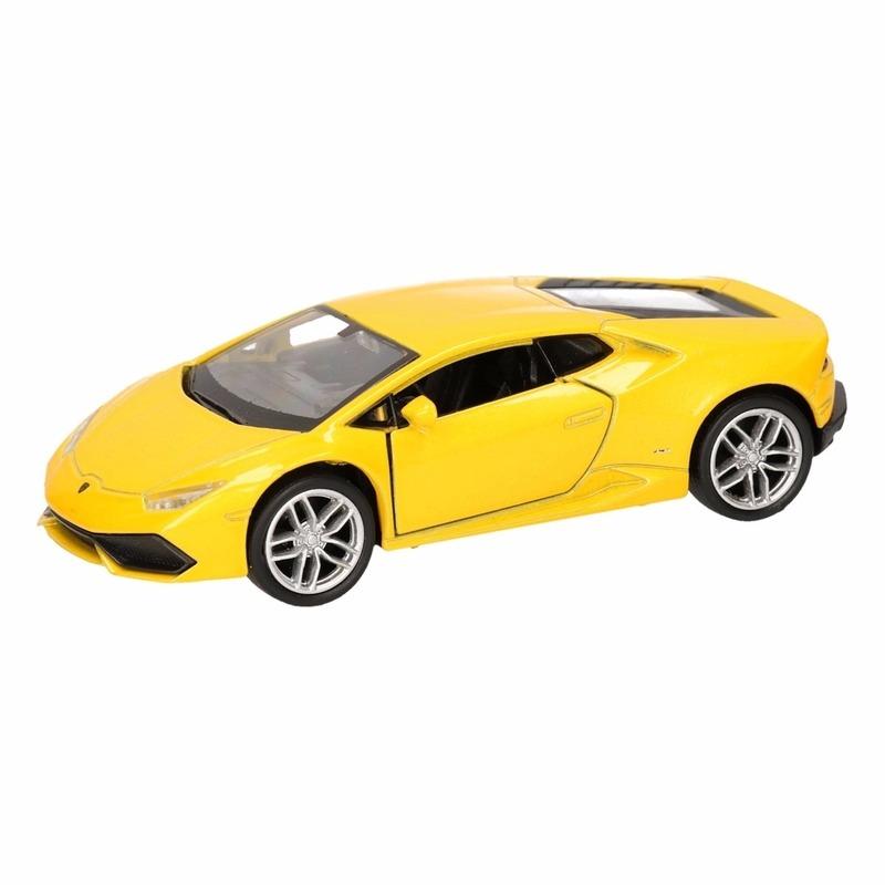Speelgoedauto Lamborghini Huracan LP610-4 geel 12 cm