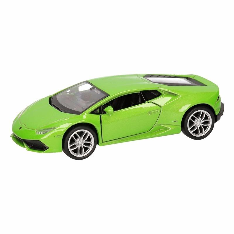 Speelgoedauto Lamborghini Huracan LP610-4 groen 12 cm