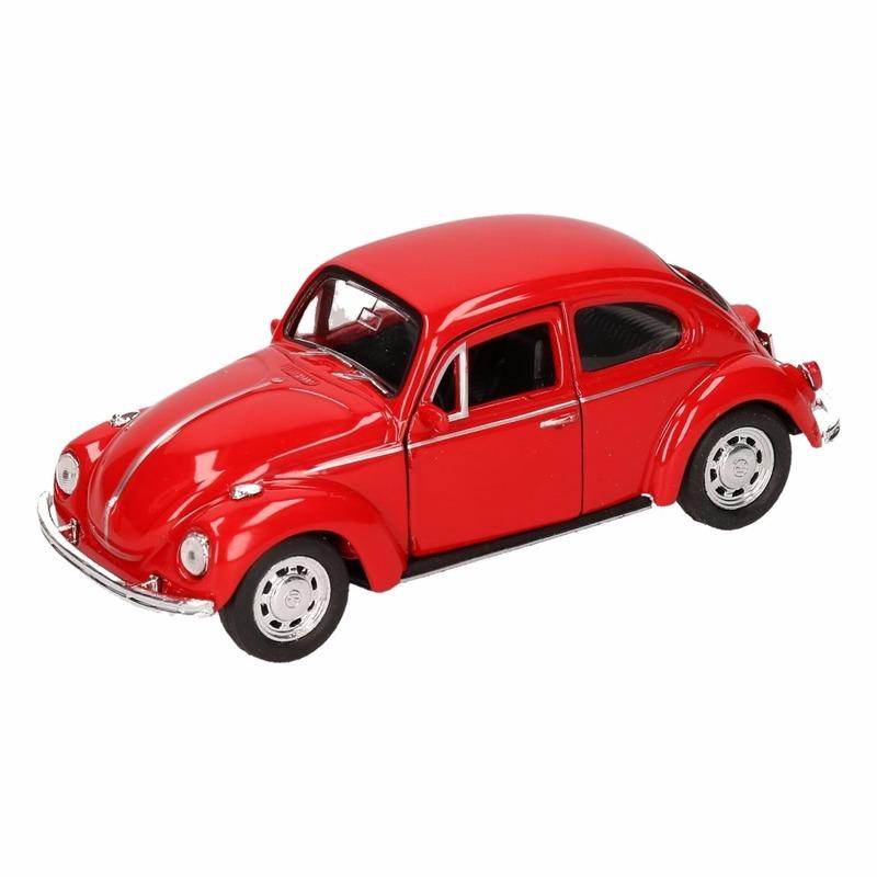 Speelgoedauto Volkswagen Kever classic rood 14,5 cm