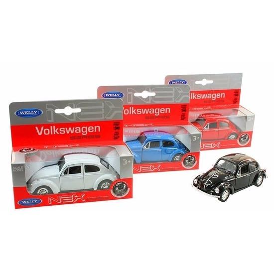 Speelgoedauto Volkswagen Kever classic wit 14,5 cm
