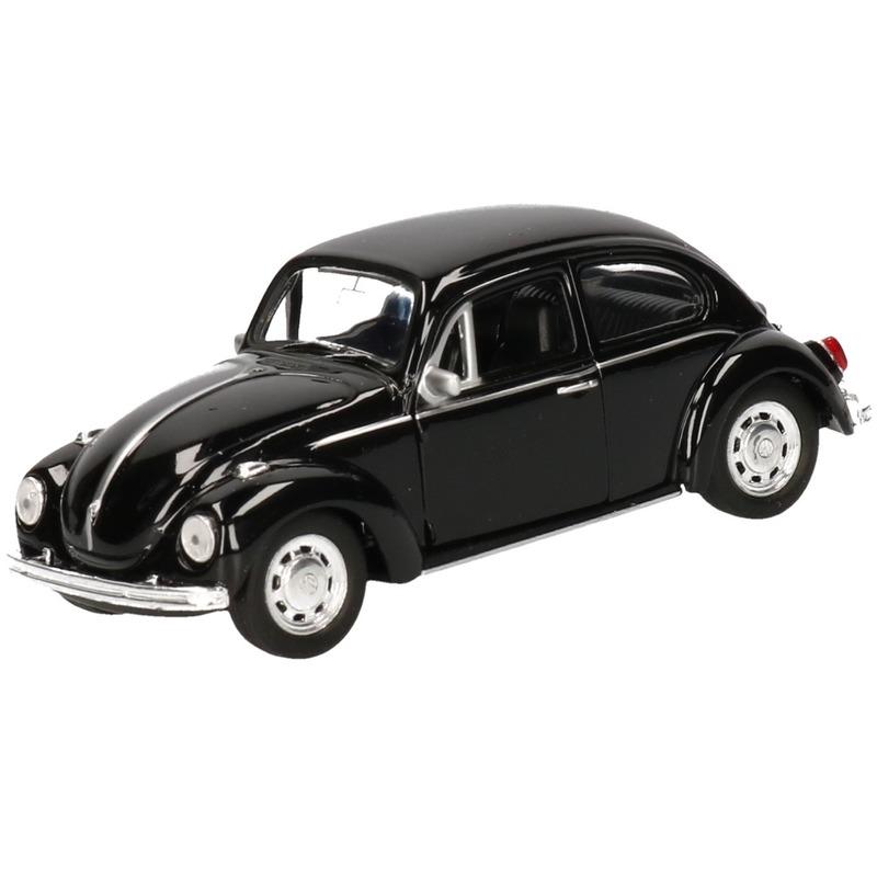 Speelgoedauto Volkswagen Kever classic zwart 14,5 cm