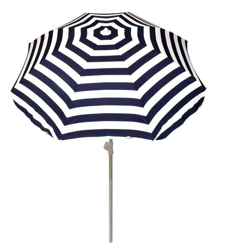 Summertime Strand parasol blauw wit gestreept 180 cm Tuin artikelen