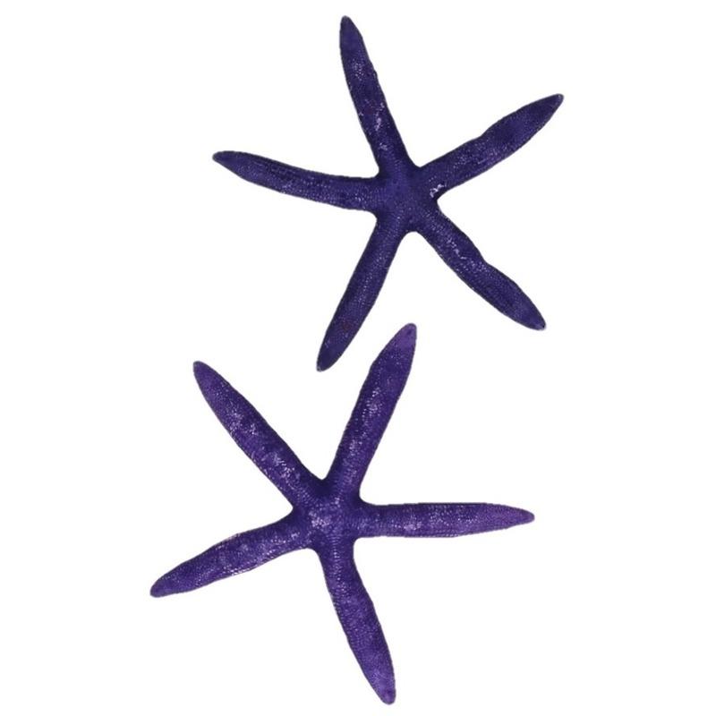 Strand themafeest decoratie zeesterren paars