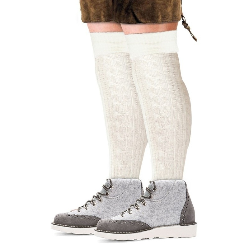 Tiroler sokken wit voor mannen